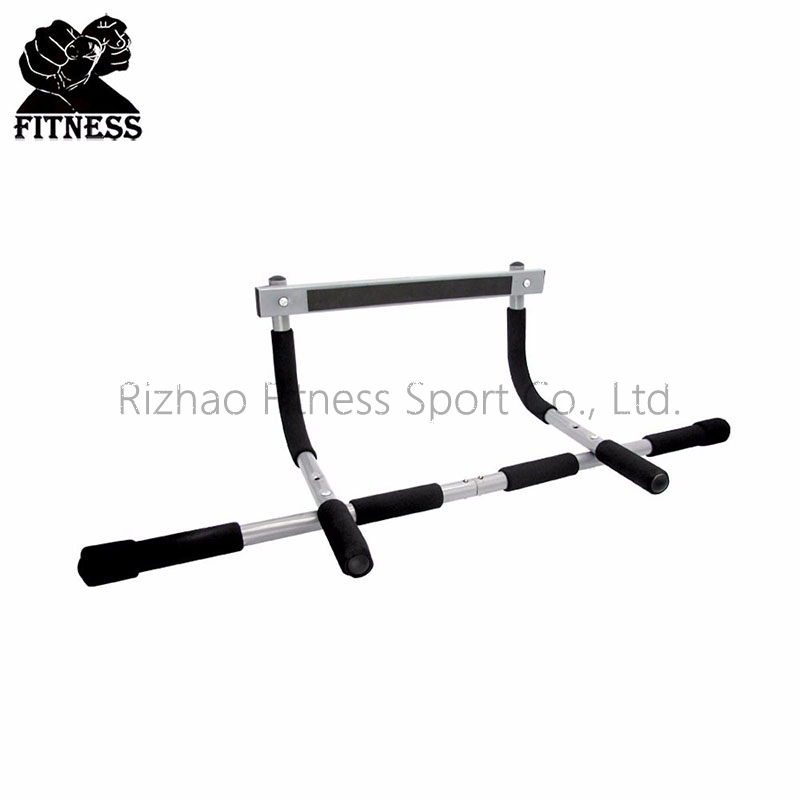 High duty steel iron door gym bar, total upper body workout bar